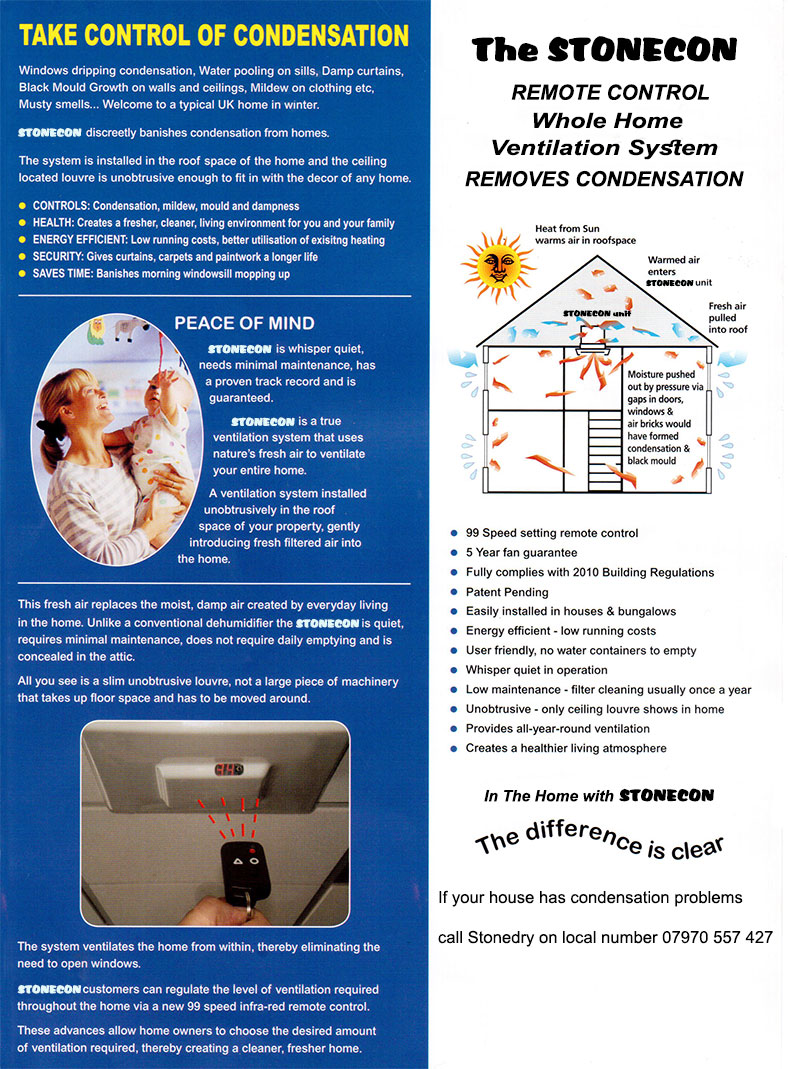 Stonecon condensation systems - Bridgend, Rhondda, Cardiff, Swansea, South Wales - wood rot